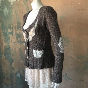 BKE Patchwork Sweater Brown LARP post-apocalyptic